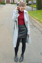BANKfashion skirt - asos coat - Zara t-shirt