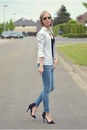 asos jeans - Pimkie shirt - Zara sandals
