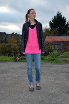 Zara jeans - Zara jacket - Zara sweater - Zara loafers