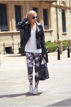 Zara jacket - Mr Gugu & Miss Go leggings - Marc by Marc Jacobs bag