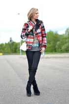 Zara jacket - Cheap Monday boots - Zara jeans - Zara bag - OASAP t-shirt