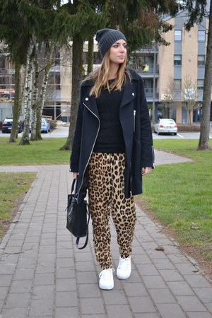 asos shoes - asos coat - Cheap Monday hat - H&M sweater - Zara pants