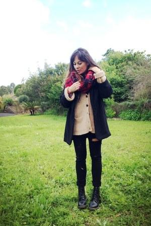 pull&bear scarf - Primark coat - H&M jeans