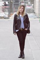 pull&bear jacket - Zara jeans - H&M jumper
