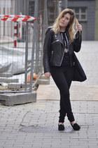 vintage loafers - Bershka jeans - pull&bear jacket - Zara jumper