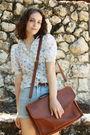 White-vintage-blouse-blue-httpstoresebaycomtwitchvintage-shorts-brown-thrift