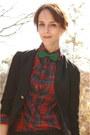 Black-thrifted-blazer-crimson-thrifted-ralph-lauren-blouse-black-forever-21-