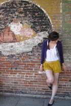gold Gap shorts - purple Gap cardigan - white Gap shirt