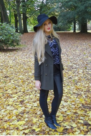 black H&M hat - army green Primark coat - dark gray H&M sweater