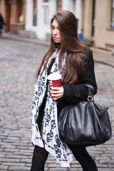 black Zara bag