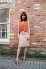 Burnt-orange-uniqueen-dress