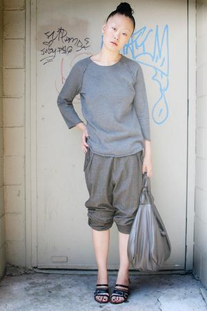 gray wool Rachel Comey pants - black Dries Van Noten accessories