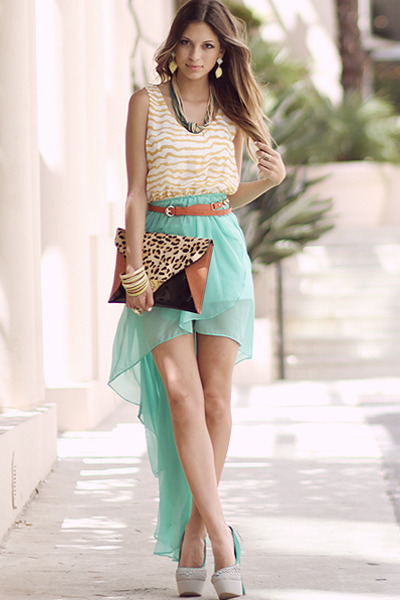 bag - lemon lime maxi dress - hip city shorts - fashion ball belt
