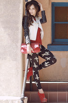 m11027b-293 boots - hat - solid rocker jacket - cross harmony leggings