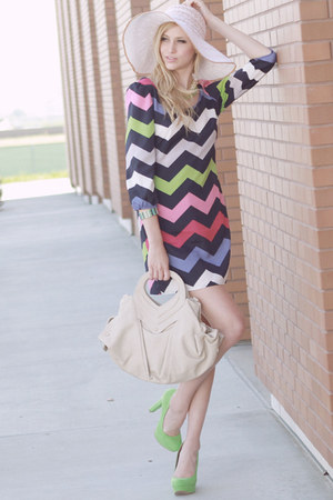 sea port summer dress - hat - allie bag - pumps - spring fling necklace