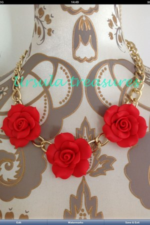 red Ursula treasures accessories