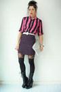Platform-vintage-boots-bow-suspender-topshop-tights
