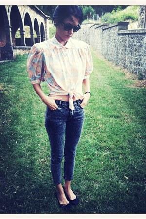 VIRVIN blouse - Cheap Monday jeans - Bimba & Lola flats