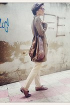 brown VIRVIN bag - brown Ralph Lauren blazer - tan Zara pants