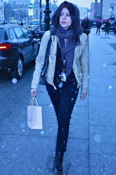 Cheap Monday pants - doc martens boots - Gipsy jacket - Zara scarf