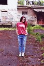 Sky-blue-boyfriend-jeans-new-yorker-jeans-ruby-red-new-yorker-t-shirt