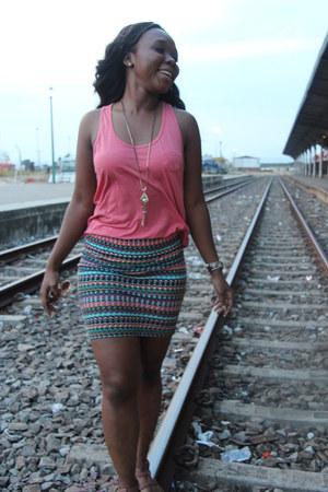 necklace - blouse - skirt - sandals