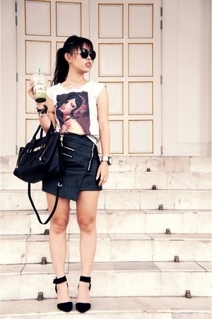 asos skirt - Charles & Keith bag - Fossil watch