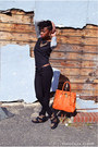 Black-h-m-jeans-carrot-orange-michael-kors-bag-black-forever-21-sneakers
