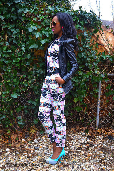 H&M shirt - Shoedazzle shoes - Aldo sunglasses - H&M pants