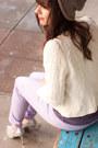 Purple-silk-forever-21-shirt-periwinkle-joe-fresh-jeans