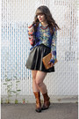 Dark-brown-vince-camuto-boots-camel-vintage-ysl-bag