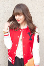 Varsity-jacket-forever-21-jacket-aldo-boots-vintage-ysl-bag