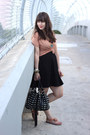Black-h-m-dress-black-shop-mamie-bag-peach-h-m-top