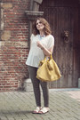 Gray-skinny-zara-jeans-yellow-zara-bag-off-white-marlen-mango-t-shirt