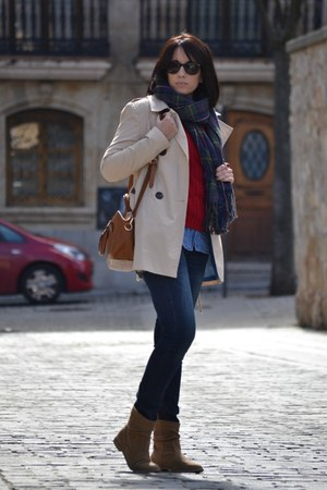 Stradivarius coat - PERSUNMALL sweater - Stradivarius scarf