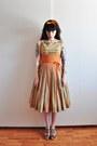 50s-pinstripe-vintage-dress-swedish-hasbeens-clogs