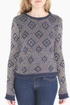 knit geometric Pretty Penny Stock sweater