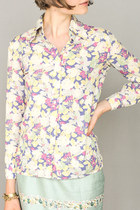 light pink floral Cacharel blouse