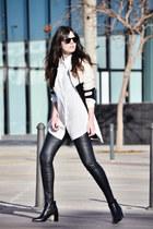 Zara boots - PERSUNMALL coat - Zara pants