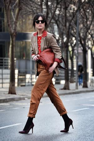 OASAP blazer - Brussosa bag - obey pants - sam edelman heels