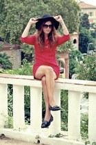 lace dress BLANCO dress - leather Miss Selfridge loafers