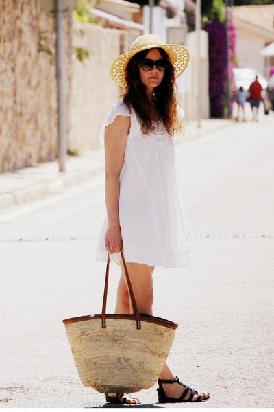 Zara dress - pull&bear hat - flea market bag - Mango glasses - Topshop sandals