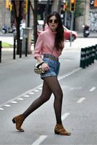 Mango bag - The Fab Shoes boots - vintage shirt - Miu Miu sunglasses