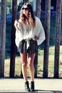 H-m-boots-forever-21-shorts-zara-blouse-house-of-harlow-ring