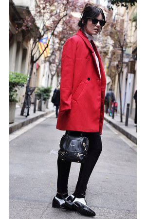 PERSUNMALL coat - Zara jeans - see by chloé bag - ray-ban sunglasses
