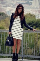 Zara bag - asos boots - Club Couture dress - H&M jacket - Zara glasses