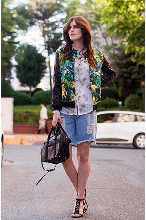 black BangGood jacket - sky blue Wholesale7 shorts