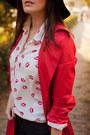 Black-h-m-hat-red-vintage-jacket-off-white-banggood-shirt-black-zara-pants
