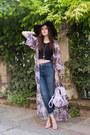 Black-h-m-hat-light-purple-missguided-jacket-light-purple-missguided-heels