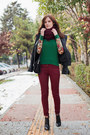 Brick-red-adl-jeans-green-ecugo-jumper